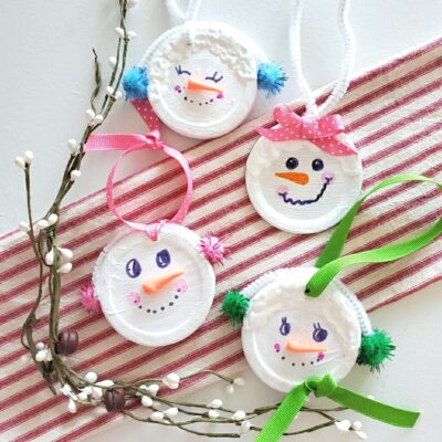 Easy, Affordable Snowman Ornament KIDS can Make!