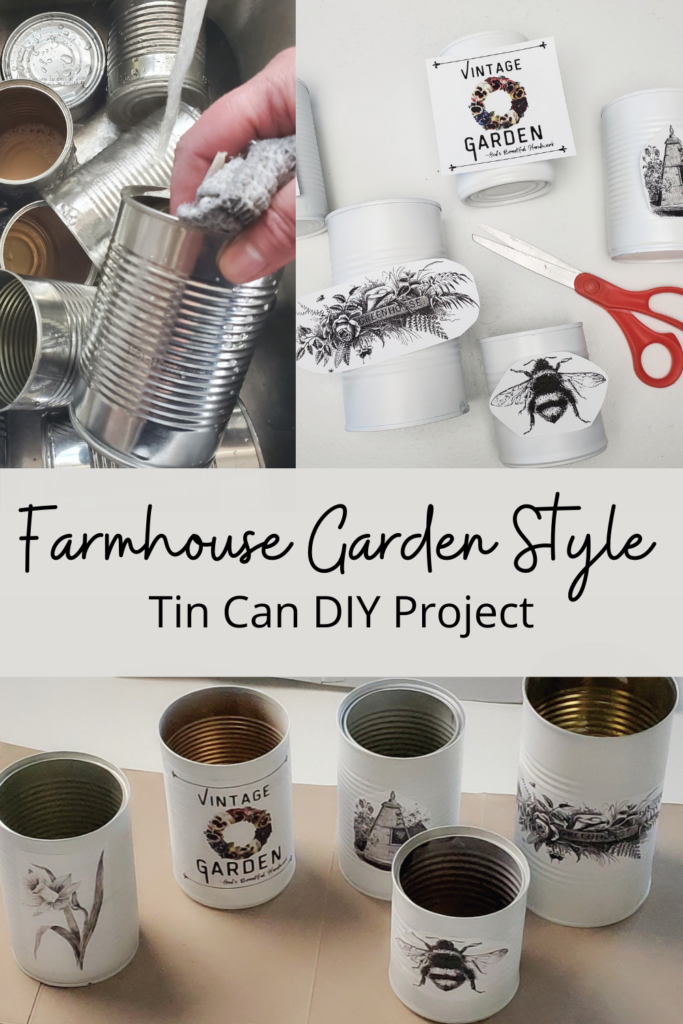 soup can DIY Farmhouse Decor